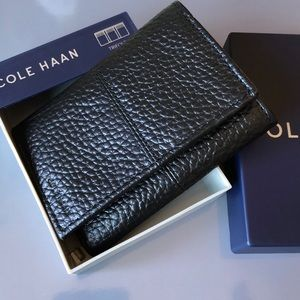 Cole Haan Pebble Leather Trifold Wallet/New